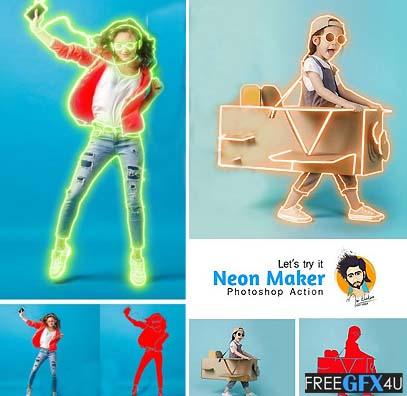 Photoshop Action Neon Maker