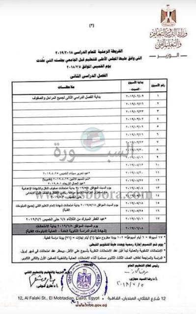 اخر اخبار جدول ومواعيد امتحانات الثانوية العامة 2019