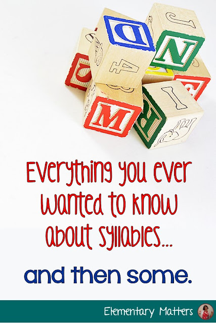 Some: This post discusses the 6 syllable types and why these are important in learning to read. It includes a multi-syllable freebie!