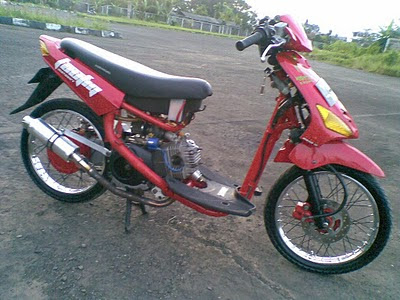 Modified motorcycle Modifikasi Mio Drag 2012 terbaru