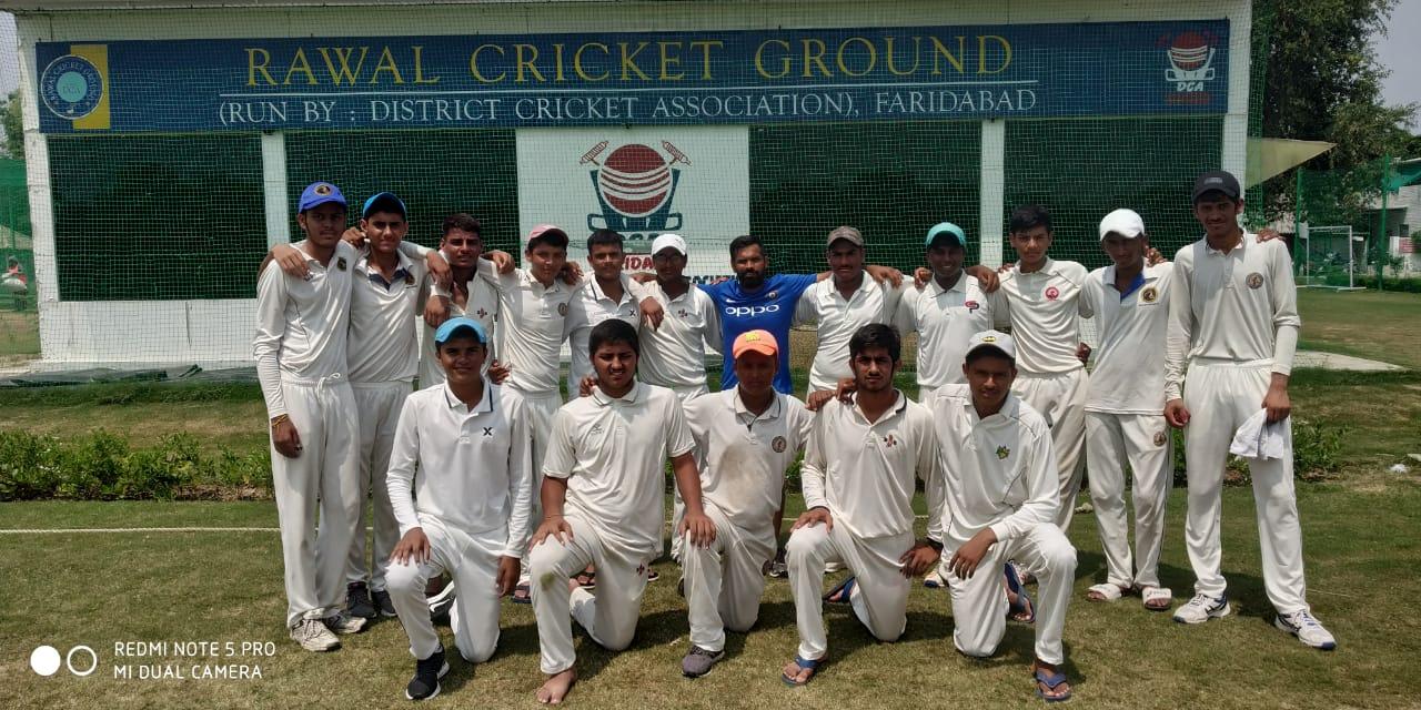 फरीदाबाद ने पलवल को  7 विकेट से हराया