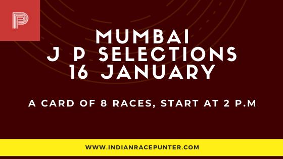 Mumbai Jackpot Selections 16 January,  free indiaan horse racing tips