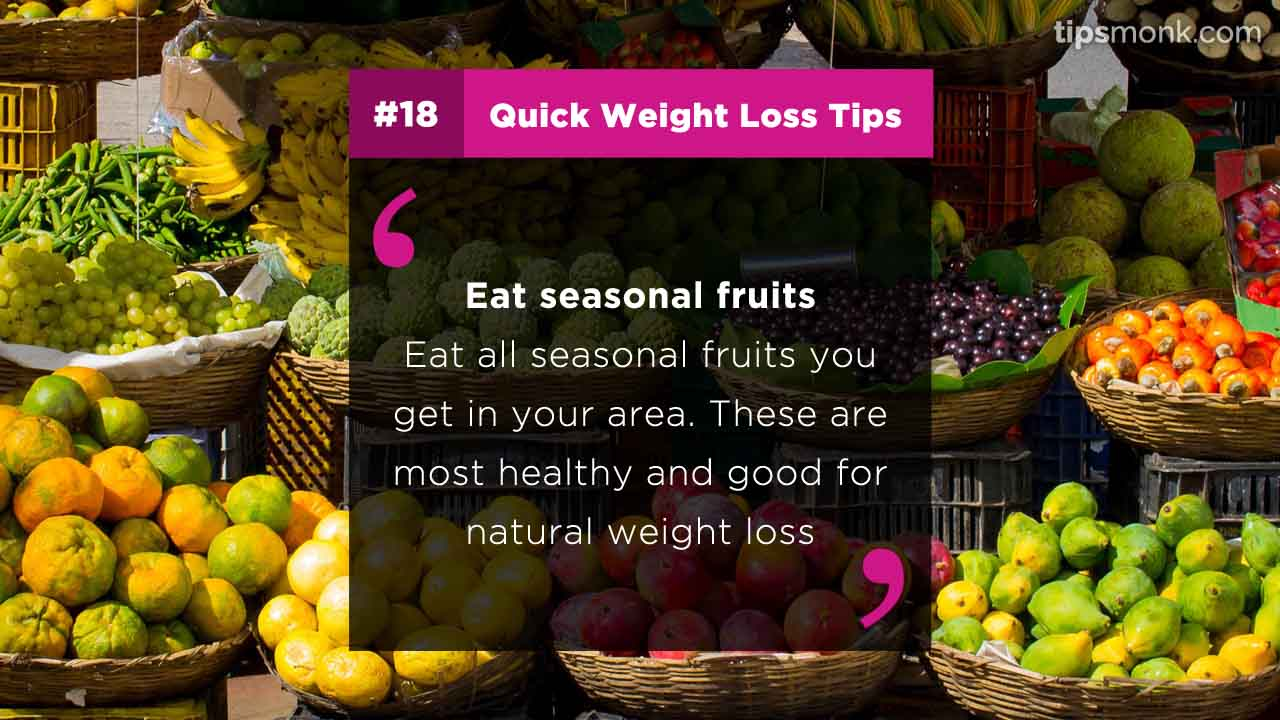 Quick weight loss tips and techniques - reduce weight fast naturally