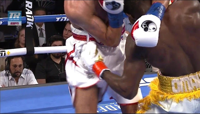Terence Crawford Vs Amir Khan Low blow
