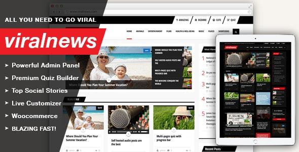 ViralNews Buzz WordPress theme