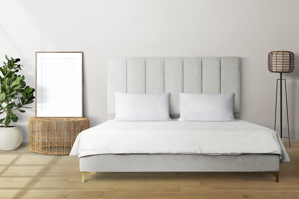 kolor szary w sypialni