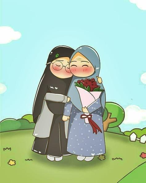Gambar animasi muslimah sahabat