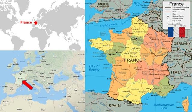 peta negara perancis