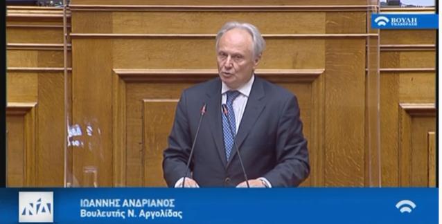 Παρέμβαση Ανδριανού στη Βουλή για το καταστήμα των ΕΛΤΑ Λυγουριού