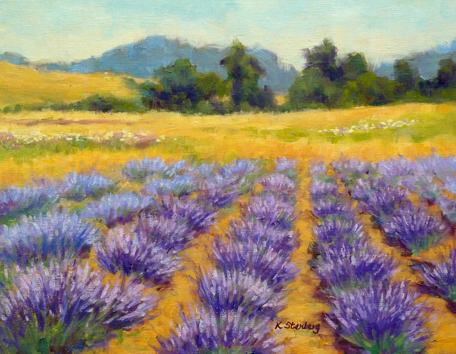 lavender painting - photo #31