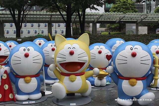 Doraemon statues in Roppongi Hills, Tokyo