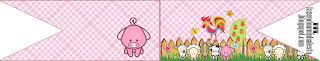 Baby Farm in Pink Food Toppers or Flags