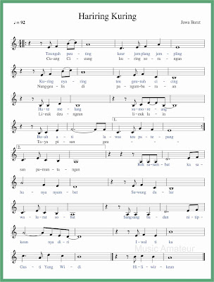 not balok lagu hariring kuring