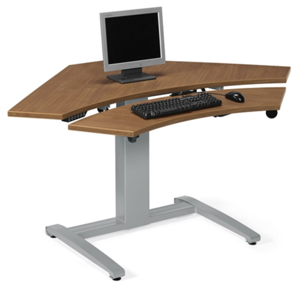 Global Electric Height Adjustable Sit to Stand Corner Desk