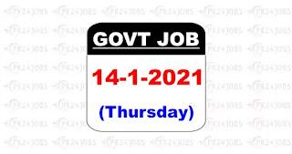 govt jobs 14 Jan 2021