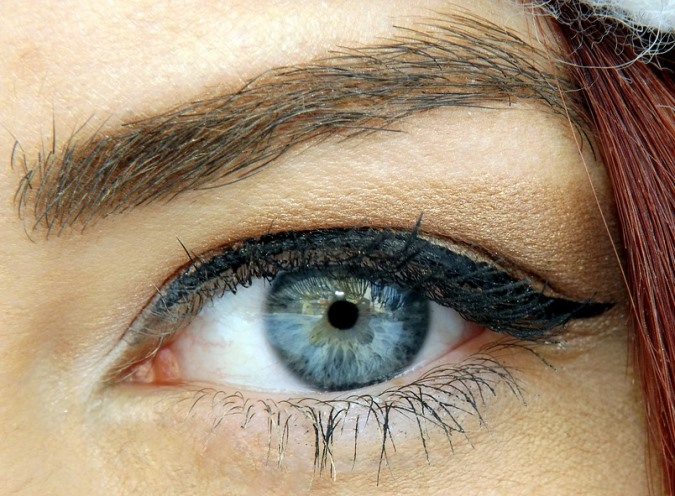 eye with liquid liner.