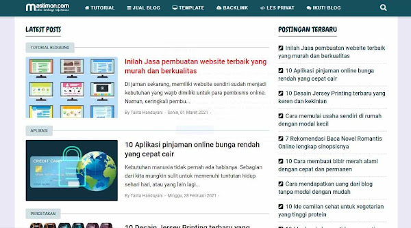 template mirip blog mastimon