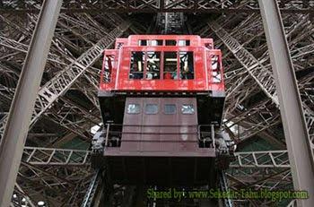 Elevator Paling Ekstrim di Dunia Ada di Menara Eiffel