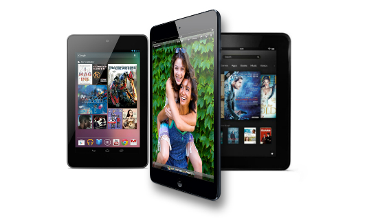 iPad Mini 2 vs Nexus 7.2 vs Kindle Fire HD 2nd gen specs comparison 2013