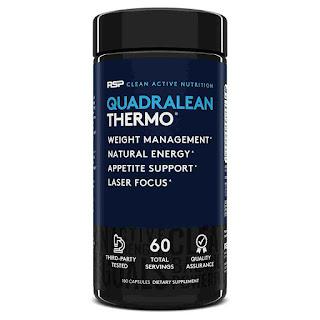 5).RSP Nutrition Quadralean Thermogenic Fat Burner with Caffeine