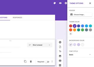 cara membuat google form agar lebih menarik