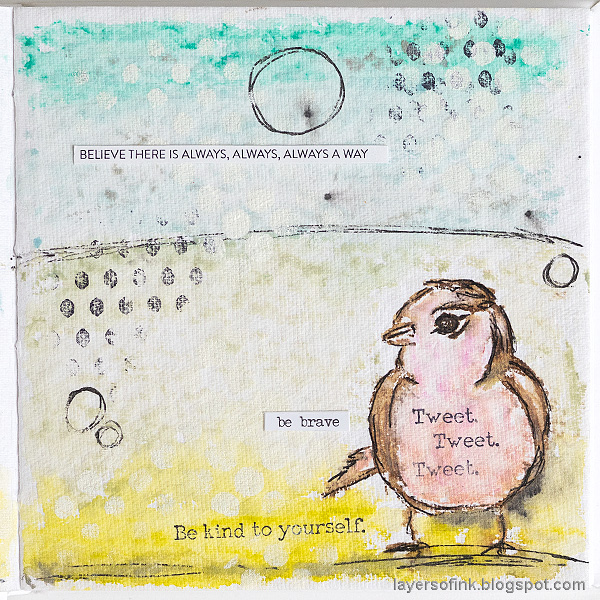Layers of ink - Pastel Journal Page Tutorial by Anna-Karin Evaldsson. In Dina Wakley White Journal.