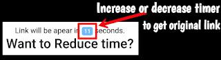 increase or decrease url shortnet timer.