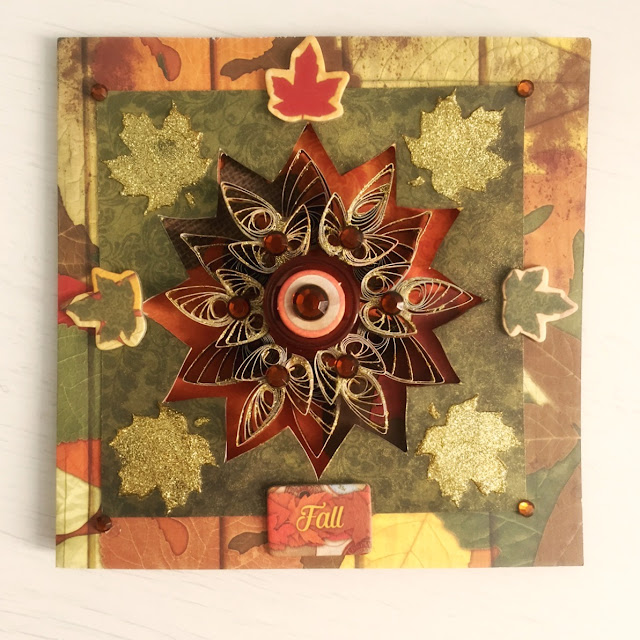 Fall In Love Card by Ombretta Fusco using BoBunny Farmers Market
