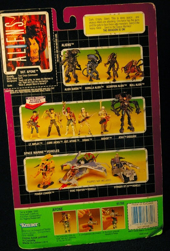 Action Figure Adventures Sgt Apone Kenner Aliens