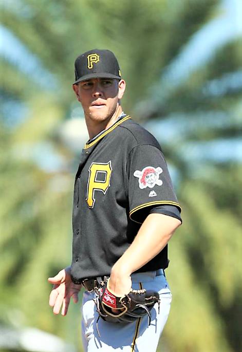 Nick Kingham tosses today (photo Dave Arrigo/Pirates)