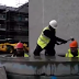 Construction workers play human-sized whack-a-mole