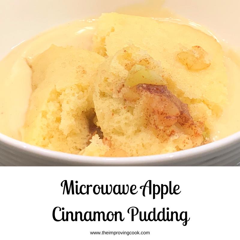 Microwave Apple And Cinnamon Pudding