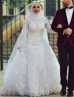 اجمل صور فساتين الزفاف للمحجبات