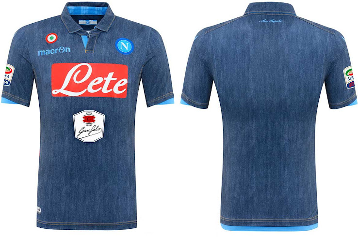 1e963bf02 ... Napoli 2014-2015 Denim Away Kit was released today following the reveal  of the Home Kit in the Italian newspaper Corriere dello Sport