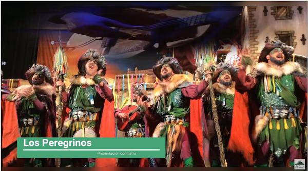 """Presentación con Letra Comparsa """"Los Peregrinos"""" de Jc Aragón Becerra (2017)"""
