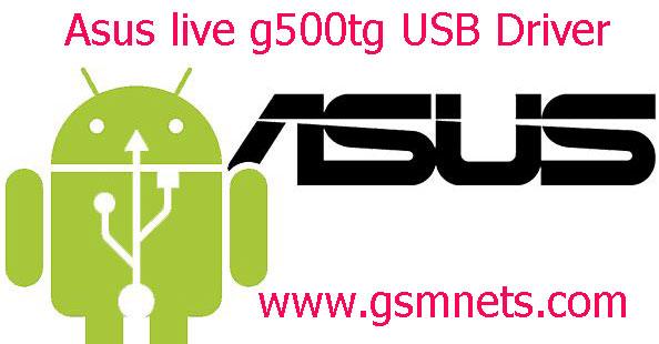 Asus live g500tg USB Driver Download