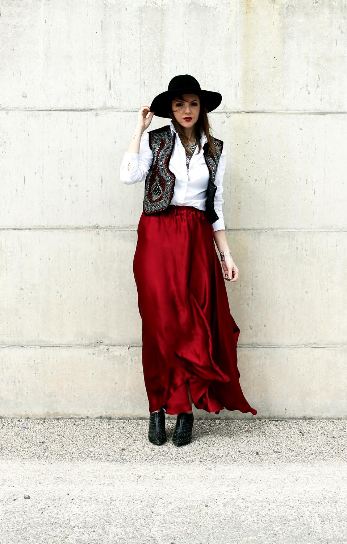 Maxi skirt in seta per un look boho chic amemipiacecosi for Fashion snobber
