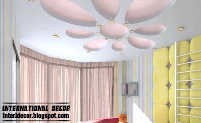 Best creative kids room ceilings design ideas, cool false ceiling for girls room