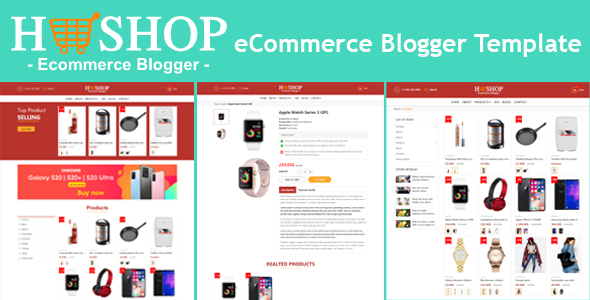 H-Shop eCommerce Blogger Template