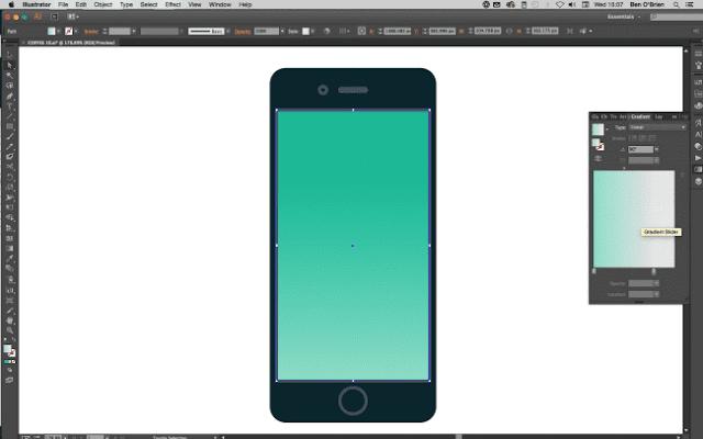 Crear icono de celular profesional en illustrator 2