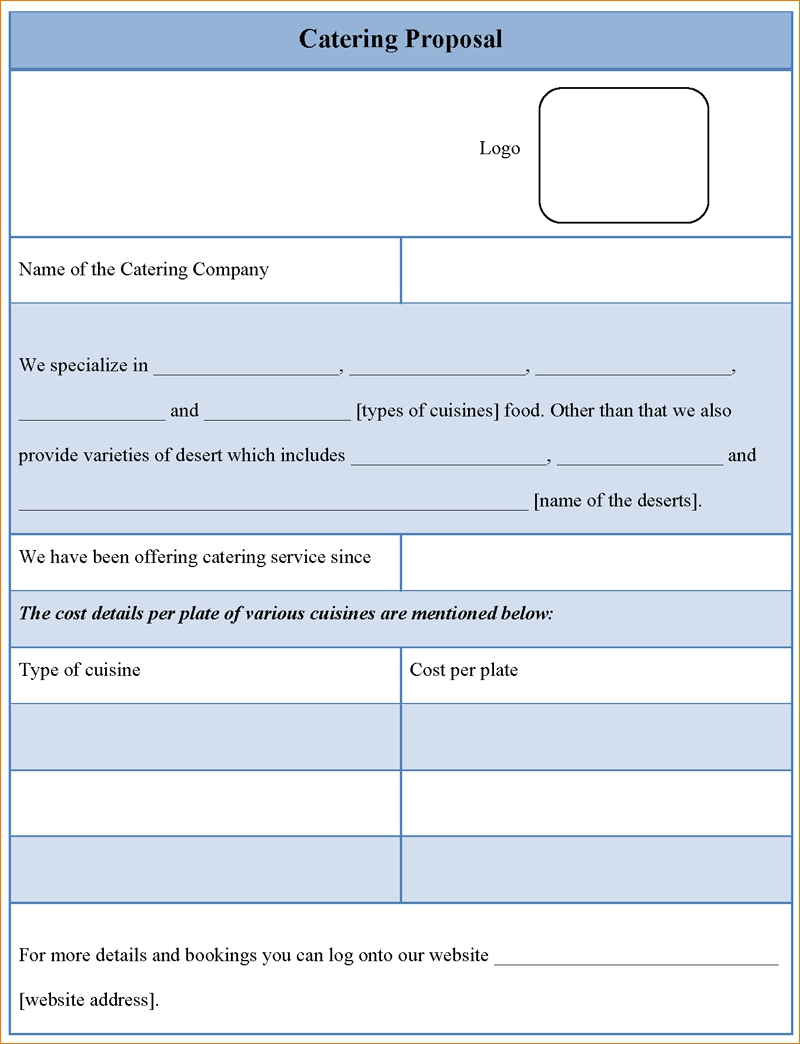 Simple Catering Proposal And Quote Template Excel Template