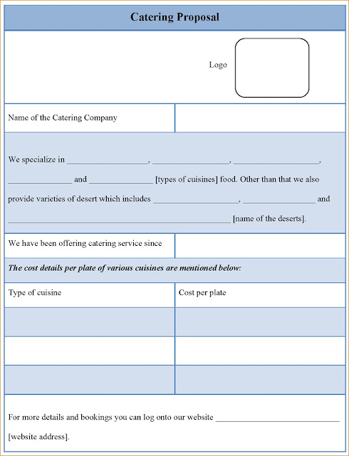 Simple Catering Proposal And Quote Template - Excel Template