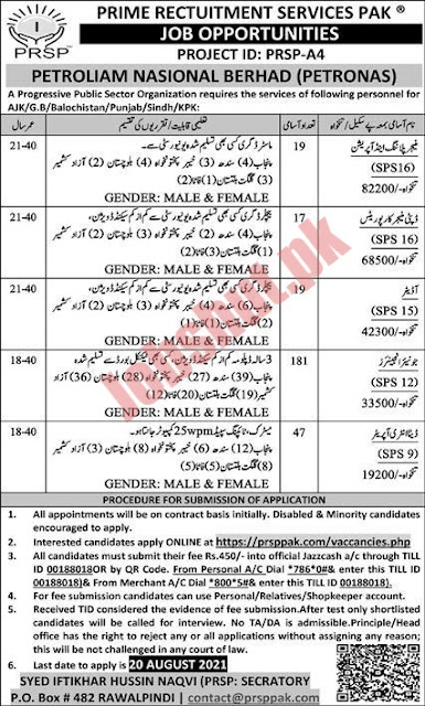 Rwp Matric Base Jobs at Prime Rectuitment Services Pak Today New Jobs 2021