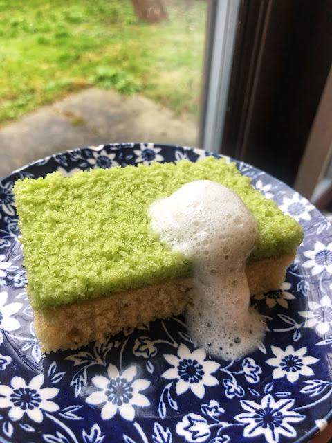 vegan edible dish sponge cake