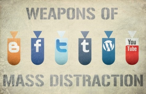 Distractions social side effect of technology