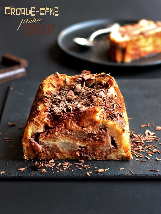 Croque cake sucre poire chocolat
