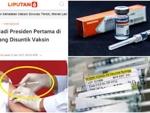 Ada yang Mencurigai Presiden Jokowi Bukan Disuntik Vaksin Sinovac