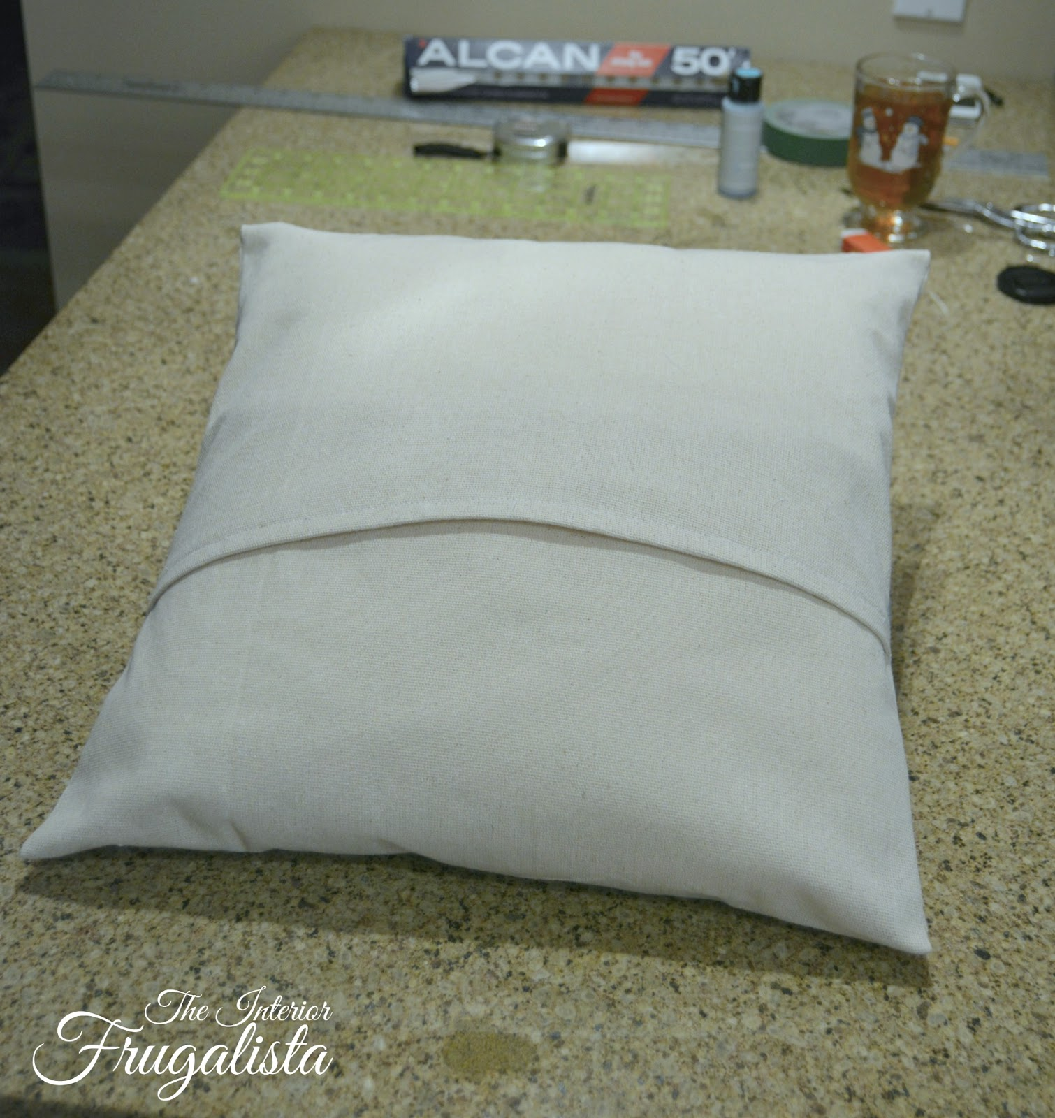 DIY envelope style pillow cover for Vintage Pearl earring Pillow