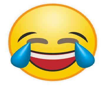 Emoticon WA Tertawa Lepas
