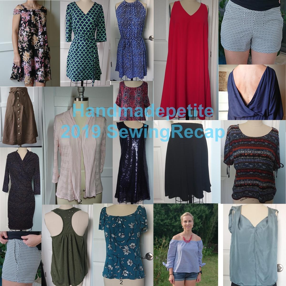 Sewing recap of 2019 handmadepetite; M7772 M6884 M7405 M7774 M6930 M7906 M6844 M7562 S9010 M7186 M6102 S1200 M7562 S8338 S8919 M7543 BurdaStyle103AB